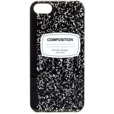 Accessory Collective Composition Notebook iPhone 5/5S Case ($2.99) ❤ liked on Polyvore featuring accessories, tech accessories, phone cases, phone, cases, iphone cases, iphone cover case, iphone notebook case and apple iphone cases