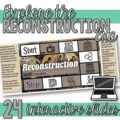 Students learn about the Reconstruction era in this engaging interactive Google Slides resource. This resource includes vocabulary activities, videos, comprehension questions, a sharecropping simulation activity, two primary source analysis activities, hexagonal thinking activity, and more.Topics co... Howard Zinn, Primary Sources, Vocabulary Activities, Comprehension Questions, History Class, Student Learning, Black Leaders, Secondary Source, Toolbox