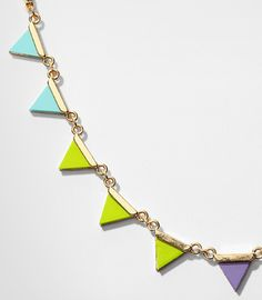 Electra Triangle Collar Necklace
