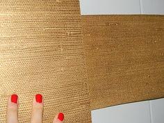 GORGEOUS SHINY THINGS: Super Cheap DIY Metallic Gold Grasscloth