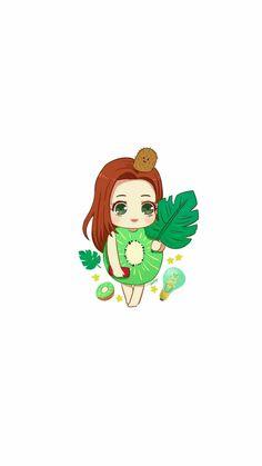Rv Wallpaper, Chibi Wallpaper, Red Velvet Joy, Red Velvet Seulgi, K Pop, Cute Girl Illustration, Creative Artwork, Digital Art Girl, Kpop Fanart
