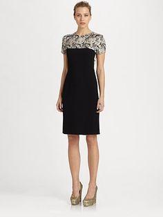 Stella Mccartney - Lace Print dress  64% viscose/33% acetate/3% elastane