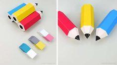 crayon bois gomme carton