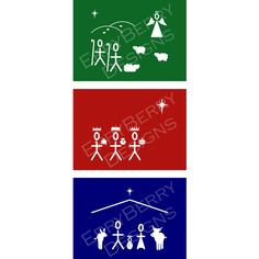 A trio of nativity story scenes in ErryBerry's unique style. This set are in wonderfully bright hues for those hoping to raise a smile this Christmas.Available as a trio, a mixed dozen or a mixed set of thirty cards.Select a set of twelve and receive a 25% discount, or choose 30 and get a whopping 50% off.  www.facebook.com/ErryBerryDesign www.erryberry.com