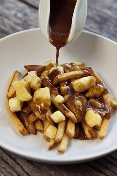 Poutine with Guinness Gravy #recipe via FoodforMyFamily.com
