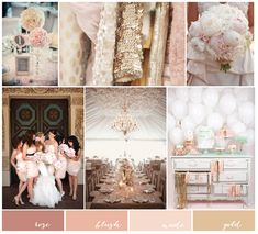 Gold, Blush Pink and Nude Wedding Inspiration | Charmed Events Group #sparklingeverafter