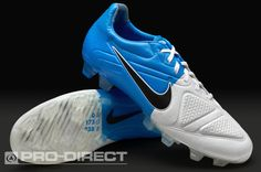 Nike Football Boots - Nike CTR360 Maestri II FG - Firm Ground - Soccer Cleats - White-Black-Blue Glow