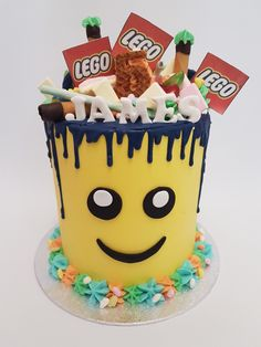 Lego Birthday, Birthday Cake, Lego Cake, Drip Cakes, Troy, Projects To Try, Party Ideas, Desserts, Gifts