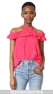 New Boutique Moschino Off Shoulder Ruffle Blouse online. Perfect on the Whit Clothing from top store. Sku esyp64558cvqg57029