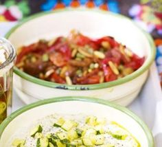 Roasted pepper salad with capers & pine nuts