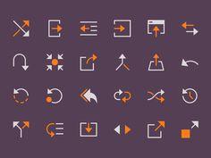 Arrows (glyph) by Denis Rodchenko