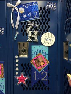 Volleyball locker decorations.