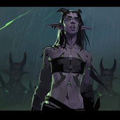 Image from WoW's harbingers! A piece I worked on last year in the vein of Lords of War. This one was about everybody's favorite demon hunter, Illidan, and his followers. #warcraftlegion #wowlegion #illidan #ldaustin #blizzardentertainment #demonhunter #harbingers Wow Of Warcraft, World Of Warcraft Legion, Warcraft Art, Fantasy Inspiration, Character Inspiration, Character Art, Character Design, Fantasy Races, Fantasy Art