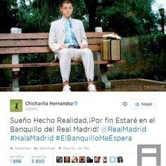 . Loool JaJaJa #Chicharito #RealMadrid