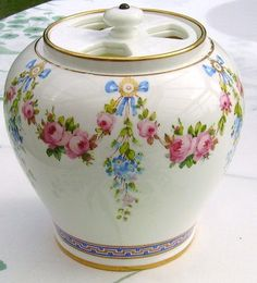 Minton Handpainted Gilded Pot Pourri Vase Unusual Lid 19thC 1888 | eBay