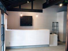 奈良のカフェ 轉害坊 内観 カウンター 漆喰磨き CAFE interior design