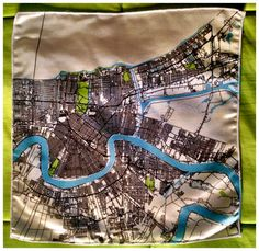 Silk New Orleans Map Pocket Square by ellenmacomber  $30