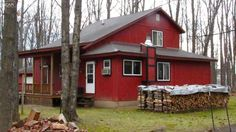 FOR SALE:  5637 Turkey Foot Trl. Gaylord, MI.  Beautiful cabin with master bedroom and jetted tub.  Rooms are spacious, short walking distance to Buhl Lake, updated kitchen with cabinets and countertops.  All appliances stay!  Included is a fishing boat with trailer.  2 huge garages to store all the toys.  $134,500!  #puremichigan #cabin #northernmichigan #upnorthlive #cottage #michigancabinforsale