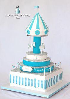 Pastel Carrusel Monica Cabrera Cakes www.monicacabreracakes.com Puebla, México