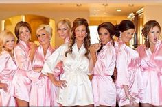 Set of 6 bridesmaid robe satin silk Personalized bridesmaid robes Wedding party Monogrammed bridesmaid robes FREE Shipping