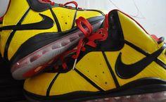 """Nike LeBron 8 """"Bruce Lee"""" Custom"""