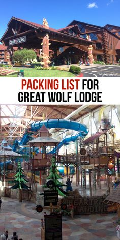 Want to know what to pack for Great Wolf Lodge? This comprehensive guide of Great Wolf Lodge tips lists everything you need to know before your visit. Packing List For Vacation, Vacation Spots, Vacation Ideas, Travel Packing, Packing Lists, Travel Tips, Vacation Checklist, Travel Advice, Travel Photos