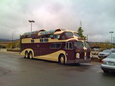 20 of the Most Unconventional Camper Vehicles - Outbound Living Rv Bus, Bus Camper, Camper Trailers, Rv Campers, Vintage Trailers, Vintage Trucks, Vintage Motorhome, Vintage Rv, Cool Trucks