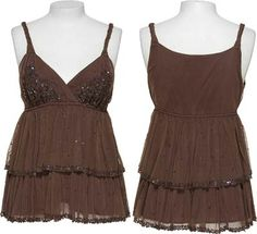 15DOLLARSTORE.COM - JESSICA SIMPSON Sequin Babydoll Top
