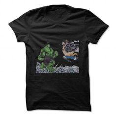 cool anime t-shirts gear-4-luffy-v-hulk