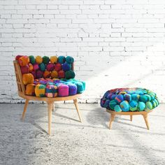 Fancy - Recycled Silk Chair & Ottoman