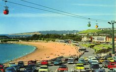 The Chair Lift and Sands at Butlin's Barry Island Holiday Camp in British Seaside, British Country, Seaside Resort, Seaside Towns, Butlins Holidays, British Holidays, Island Theme, Park Playground, Vintage Holiday