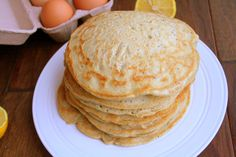 The Healthy Happy Wife: Lemon Poppy Seed Buckwheat Pancakes (Dairy, Gluten and Refined Sugar Free)