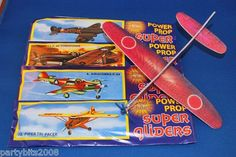 plastic styrofoam toy aeroplane