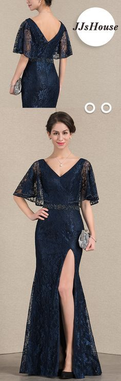 Love the lace sleeves! #JJsHouse #Mother dresses