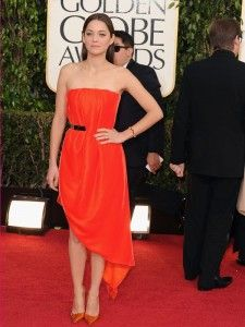 Marion Cotillard in a Dior Haute Couture dress at the 70th Annual Golden Globe Awards 2013.