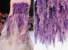 Russian artist likens famous dresses to nature. Giambattista Valli F/W 2014/15 & Wisteria