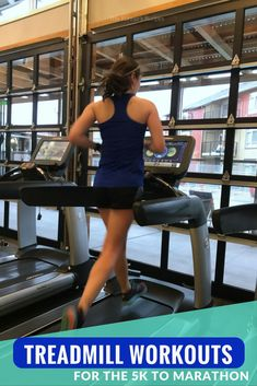 Treadmill Workouts for Race Training from the to Marathon - Stuck indoors due to winter weather? Make the most of your run with these treadmill workouts for ra - Running On Treadmill, Treadmill Workouts, Running Workouts, Running Tips, Easy Workouts, At Home Workouts, Running Humor, Hill Workout, Workout Abs