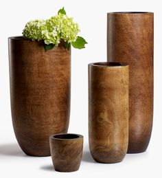 6x18in Light Brown Mango Wood Vase Add another touch of nature to your floral arrangements and bouquets when you use these genuine mango wood vases. How great would these be for an outdoor wedding or event.   Price : $15 Quantity : 3