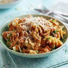 You'll find the recipes for our fusilli with sausage ragu recipe in your larder - a delicious, hearty midweek supper!
