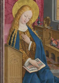 By the Master of Liesborn, probably 1470-80, The Annunciation (detail).