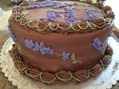 Lavender Cake Decoration
