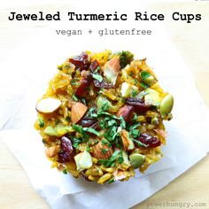 [Post #59 for 365 days of Vegan, Gluten-Free, Portable Power Pucks] Jeweled rice is a dish I fell for, head over heels, at first bite. My friend Roxy invited me to her house where her mother, born and raised in…
