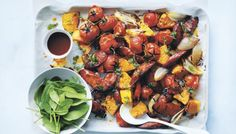 roasted pumpkin and chorizo salad ++ the splendid table Side Recipes, Veggie Recipes, Real Food Recipes, Dinner Recipes, Healthy Recipes, Healthy Meals, Dinner Ideas, Chef Dishes, Side Dishes
