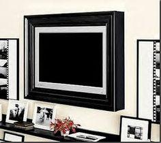 DIY frame for TV - Pottery Barn knockoff