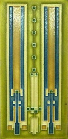 Avery Coonley Rug design by Frank Lloyd Wright as interpreted by Motawi Art Tile Art Deco Design, Tile Design, Glass Ceramic, Ceramic Art, Tile Art, Mosaic Tiles, Art Nouveau Tiles, Frank Lloyd Wright, Style Tile