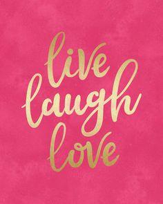 Live Laugh Love Art Print by CatyArte Self Love Quotes, Happy Quotes, Quotes To Live By, Me Quotes, Live Laugh Love Quotes, Positive Quotes, Love Wallpaper, Wallpaper Quotes, Iphone Wallpaper