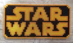 Star Wars logo perler beads by LateNightSigns