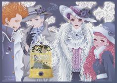Arashi, George, Yukari, Isabella and Miwako, Paradise Kiss by Ai Yazawa