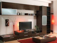 mobila living - Căutare Google Interior Design Living Room, Living Room Designs, Living Rooms, Home Organization, Divider, Sweet Home, Tvs, Study, Furniture