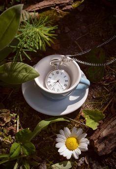 Wonderland:  #Pocket #watch and #teacup.